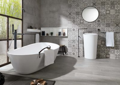 Systempool-Porcelanosa-KRION-bathroom-Almond
